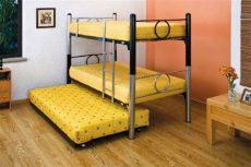 literas de 3 camas de fierro litera de rodapie con colchones b 225 sicos 5 150 00 en mercado libre