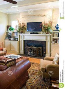 salas pequenas con chimenea y tv sala de estar con la chimenea y la tv imagen de archivo imagen de living adorne 4037949