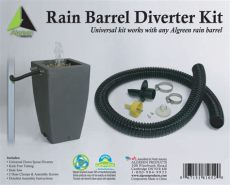 algreen products deluxe barrel downspout diverter kit the home depot canada - Rain Diverter Home Depot Canada