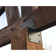 post bracket bottoms and tops cutting edge metals inc - Black Metal Brackets For Wood Beams