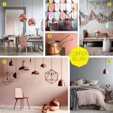 the style index blushing dulux colour of 2015 with copper highlights - Blush Copper Bedroom Accessories