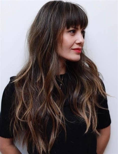 50 cute long layered haircuts bangs 2020