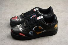 supreme x nike air 1 low nba black s and s size for sale with sneaker - Nike Air Force 1 Supreme Black
