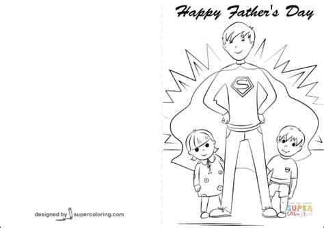 happy father day card coloring page free printable