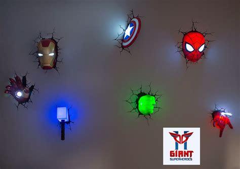 super cool avengers 3d wall deco night lights