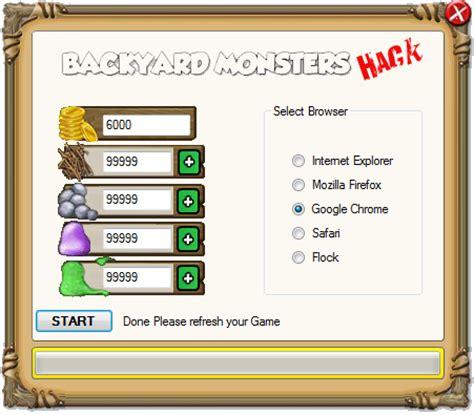 backyard monsters cheats hack hack cheat tool download