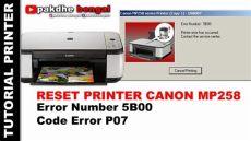 how to reset canon mp258 cara reset printer canon mp258 reset printer canon mp258 canon error number 5b00 canon error