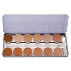 kryolan dermacolor palette kryolan dermacolor camouflage system concealer palette with 12 shades notino co uk