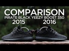 yeezy boost 350 pirate black 2015 comparison adidas yeezy boost 350 pirate black 2015 vs 2016