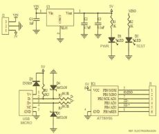 learn to use attiny85 usb mini development board - Attiny85 Usb Schematic