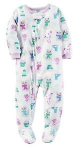 s white winter cat skate blanket fleece footed sleeper pajamas 3t ebay - Foosites White Ice