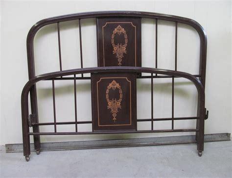 vintage 1920s painted metal bed frame full