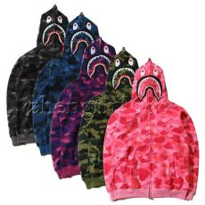 bape shark hoodie camo bathing ape bape shark jaw camo zipper hoodie s sweats coat jacket ebay