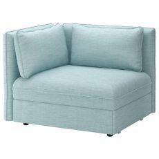 sofa cama individual ikea vallentuna sleeper module with backrests hillared light blue ikea