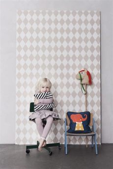 harlequin wallpaper in by ferm living rosenberryrooms - Harlequin Childrens Wallpaper