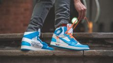 jordan 1 off white blue on feet white x nike air 1 nrg quot unc quot review on