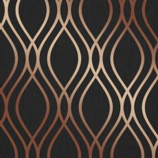 camden damask wallpaper charcoal copper henderson interiors camden wave wallpaper charcoal copper h980534 wallpaper from i