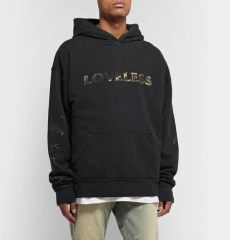 rhude racer hoodie rhude oversized logo print loopback cotton jersey hoodie in black modesens