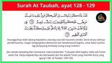 at taubah ayat 128 129 latin ayatul hisni surah at taubah ayat 128 129 100 kali