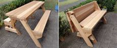 diy collapsible picnic table 15 diy folding tables to maximize floor space home and gardening ideas