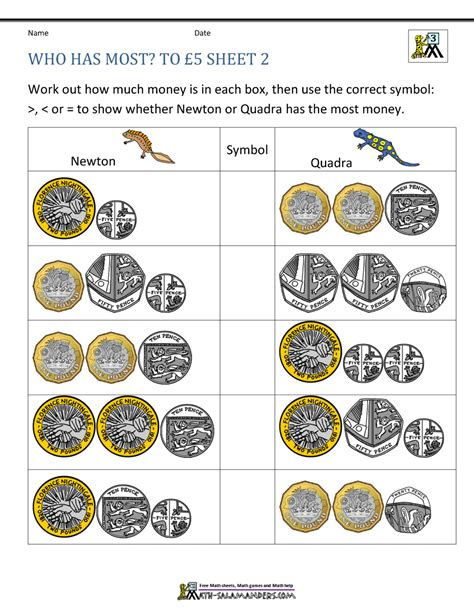year 3 money worksheets 5