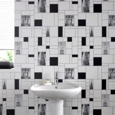 contour wallpaper for bathrooms graham brown contour nyc tile new york kitchen bathroom wallpaper