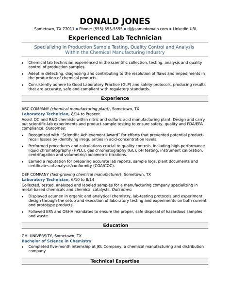 Resume Entry Level Lab Asistant.html