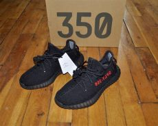 yeezy boost 350 v2 black red uk adidas adidas yeezy boost 350 v2 bred black cp9652 size 7 5 us 7 uk 40 2 3 eu grailed