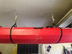 how to hang kayak from garage ceiling knowing how to hang kayaks on a wall mi je