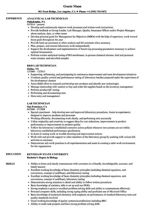 lab technician resume ipasphoto