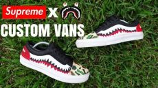 supreme x bape shoes supreme x bape vans custom