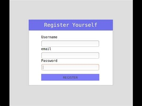 registration form php part 3 registerp php page