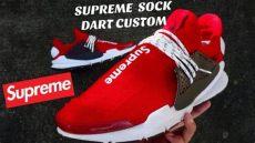 supreme nmds red custom supreme nike sock dart nmds
