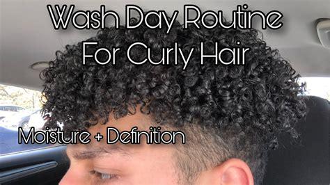 curly wash day routine moisture definition men women