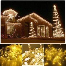 warm colored led christmas lights warm white 50m 500 led string lighting wedding lights outdoor twinkle