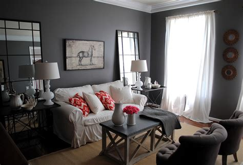 Gray Painted Living Room Walls