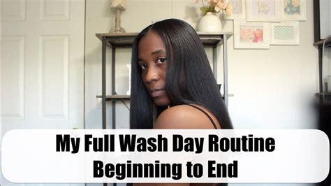 full wash day routine beginning youtube