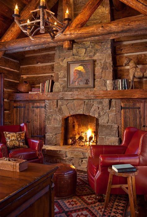 log cabin big sky montana usa cabin style