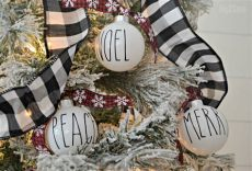 dunn inspired crafts from dollar tree items - Rae Dunn Christmas Tree