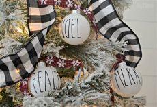 diy farmhouse dunn inspired ornaments hip2save - Rae Dunn Inspired Christmas Ornaments Diy