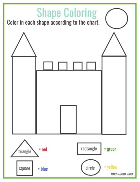 shapes worksheets preschool free printables mary martha mama