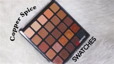 morphe 25a copper palette morphe 25a copper spice palette swatches