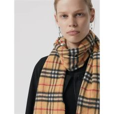 vintage burberry scarves the classic vintage check scarf in antique yellow burberry united kingdom
