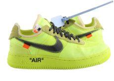 white yellow white x nike air 1 low volt - Nike Off White Air Force 1 Yellow