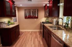 faux wood tile in kitchen porcelain faux wood flooring traditional kitchen