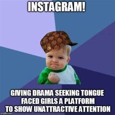 success kid meme imgflip - Instagram Attention Seeker Meme
