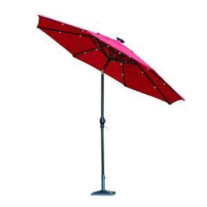 hton bay 9 ft aluminum solar patio umbrella