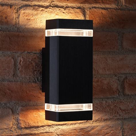 auraglow large outdoor double wall light chilton black