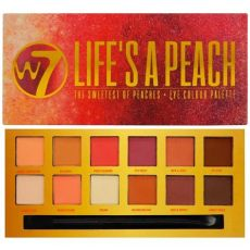 w7 cosmetics s a 12 colour eyeshadow palette free delivery justmylook - W7 Lifes A Peach Eye Colour Palette