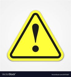 attention sign vector danger warning attention sign royalty free vector image